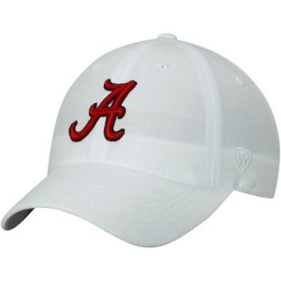 トップ・オブ・ザ・ワールド メンズ 帽子 アクセサリー Alabama Crimson Tide Top of the World Primary Logo Staple Adjustable Hat Whi