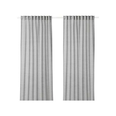 IKEA イケア カーテン 長さ250cm×幅145cm 1組 グレー z20390734 HILJA