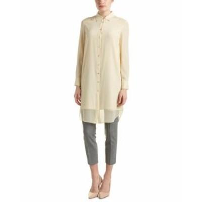 Magaschoni  ファッション ドレス Magaschoni Silk Shirt