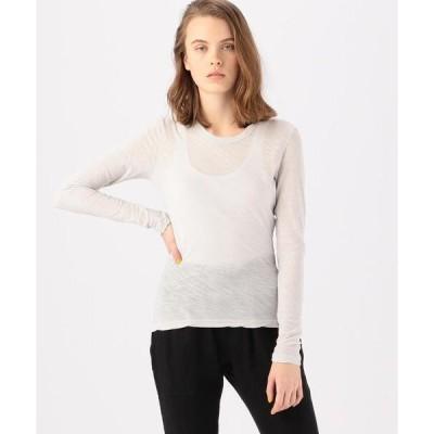 tシャツ Tシャツ スラブジャージー ロングスリーブプルオーバー WUA3361