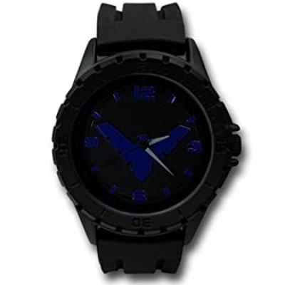 腕時計  Nightwingシンボルブラック腕時計 シリコンバンド