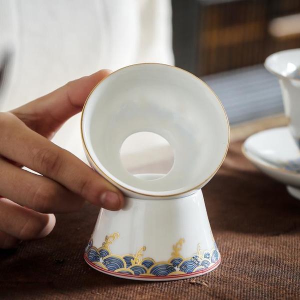 茶漏網濾茶器茶隔陶瓷套裝茶具配件茶葉過濾網泡茶漏