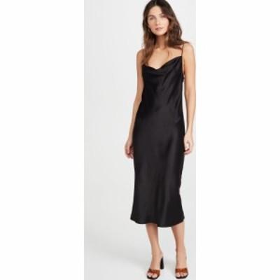 フルール ドゥ マル Fleur du Mal レディース ワンピース スリップドレス ワンピース・ドレス Cowl Neck Slip Dress Black
