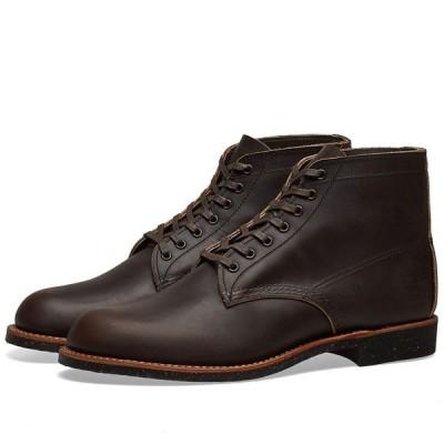 """レッドウィング Red Wing メンズ ブーツ ワークブーツ シューズ・靴 8061 Heritage Work 6"""" Merchant Boot Ebony Harness"""
