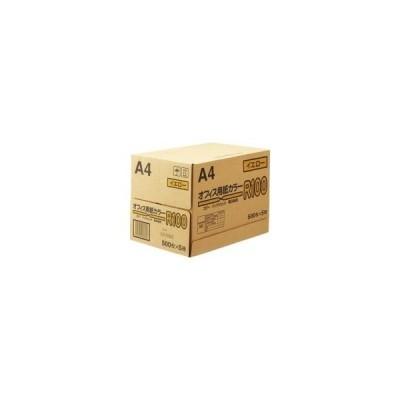 *受発注・送料無料*日本紙通商 オフィス用紙カラー A4 イエロー 1箱(2500枚:500枚×5冊)