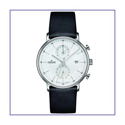 Junghans Men's 40mm Calfskin Band Case Quartz White Dial Analog Watch 041/4770.00