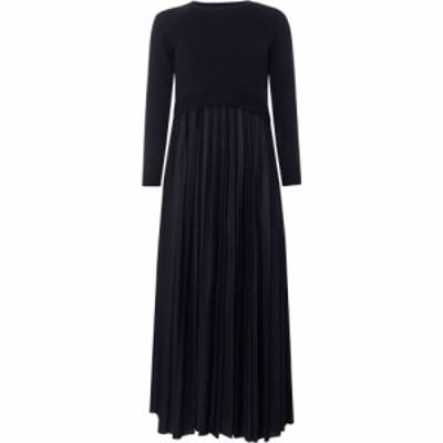 マックスマーラ Max Mara Weekend レディース ワンピース・ドレス Re Top And Pleated Skirt Knitted Dress Midnight