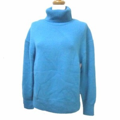 【中古】バンヤードストーム BARNYARDSTORM ニット セーター 長袖 タートルネック ウール 青 ブルー F フリー IBS63 X レディース