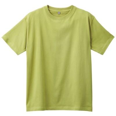 インド綿半袖Tシャツ(男女兼用)/ライムグリーン/M