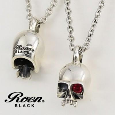 RoenBLACK ロエン ネックレス ブラック スカル アクセサリー シルバー925 ブラス RO-003 ブランド 人気