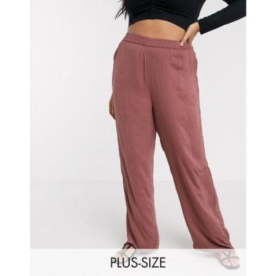 ヴェロモーダ Vero Moda Curve レディース ボトムス・パンツ satin trousers in rose