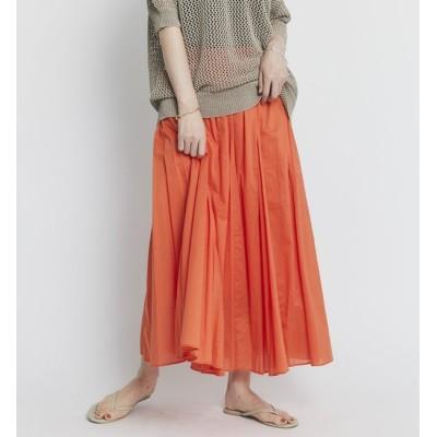 【リヴドロワ/RIVE DROITE】 【華やかで女性らしい一枚】綿ローンマチフレアースカート
