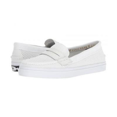 Cole Haan コールハーン レディース 女性用 シューズ 靴 ローファー ボートシューズ Pinch Luxe Stitchlite - White/Vapor Gray