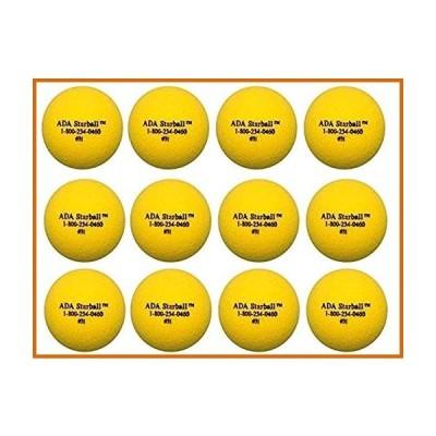 テニス ADA Sports スターボール - テニス、ソフトボール、パドルボール、ウィスパーボール用 - 12個セット