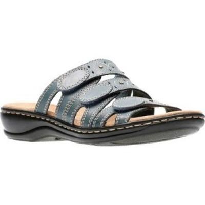 クラークス Clarks レディース サンダル・ミュール シューズ・靴 Leisa Cacti Denim Blue Leather