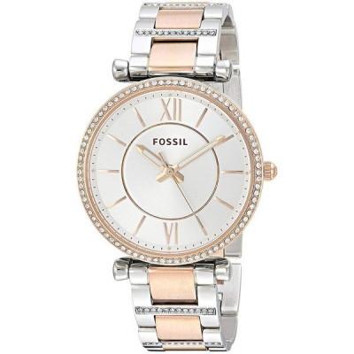 腕時計 フォッシル Fossil 35mm Carlie Three-Hand Two-Tone Glitz Ladies Watch ES4342 NEW!