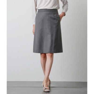 NEWYORKER / ストレッチシャドーストライプ 台形スカート