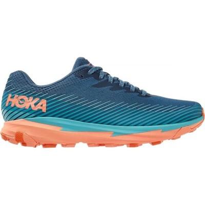 ホカ オネオネ HOKA ONE ONE レディース ランニング・ウォーキング シューズ・靴 Torrent 2 Trail Running Shoe Real Teal/Cantaloupe