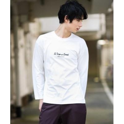 【アー・ヴェ・ヴェ】 ロゴプリントカットソー メンズ ホワイト XL a.v.v