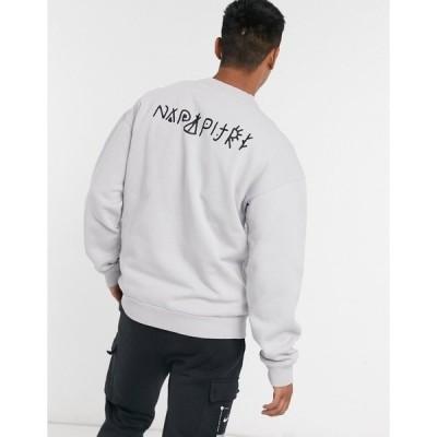 ナパピリ メンズ パーカー・スウェットシャツ アウター Napapijri Yoik sweatshirt in gray Grey