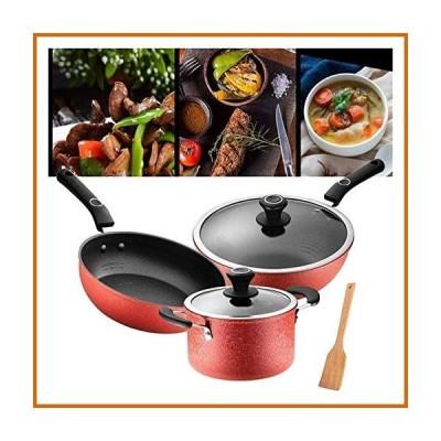 送料無料 Safe and Environmentally Friendly High-end Pot Set Kitchen Cookware Set, Pots & Pans Woks & Stir-Fry Pans Pots and Pans Set,No