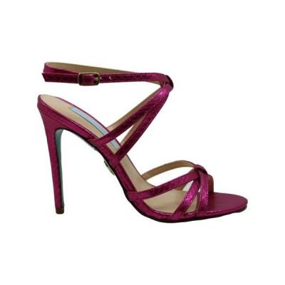 レディース 靴 コンフォートシューズ Betsey Johnson Womens Myla Fabric Open Toe Casual Ankle Strap Sandals