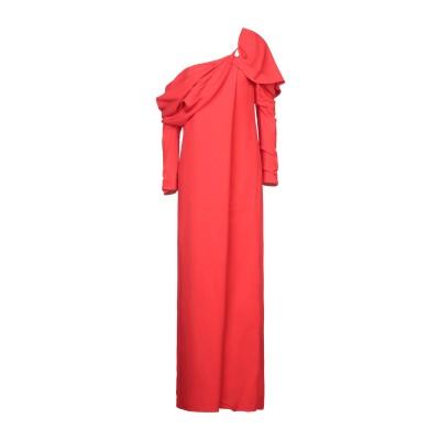 MONSE ロングワンピース&ドレス レッド 2 レーヨン 96% / ポリウレタン 4% ロングワンピース&ドレス