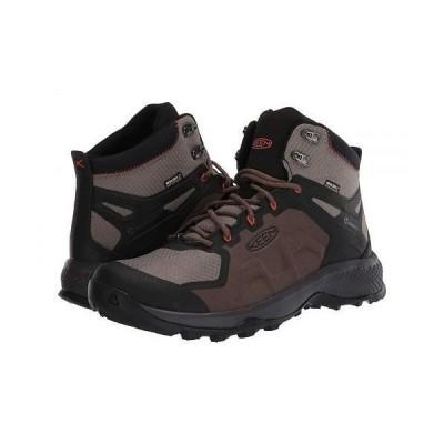 Keen キーン メンズ 男性用 シューズ 靴 ブーツ ハイキング トレッキング Explore Mid WP - Canteen/Brindle