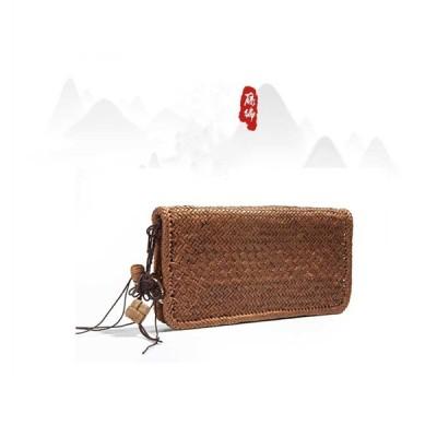 【新品登場】職人の手編み 山葡萄藤 財布 野生葡萄藤 ファスナー レディース財布 手作り ハンドメイド かごバッグ