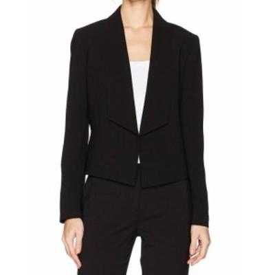 Nine West ナインウエスト ファッション 衣類 Nine West NEW Jet Black Womens Size 12 Shawl-Collar Crepe Jacket