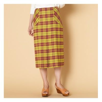 【エリオポール/HELIOPOLE】 HELIOPOLE BONOTTOリネンチェックBOXプリーツスカート