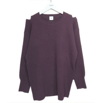 6(ROKU) BEAUTY&YOUTH UNITED ARROWS 「SHOULDER 2HOLE KNIT」ショルダーホールニット ボルドー サイ