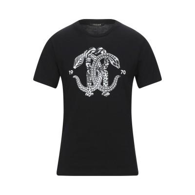 ロベルト カヴァリ ROBERTO CAVALLI T シャツ ブラック XS コットン 100% T シャツ