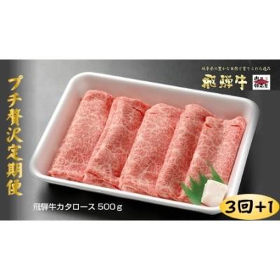 飛騨牛カタローススライス【500g】3回定期便&特製『炭火焼豚』セットが最終月に届く!