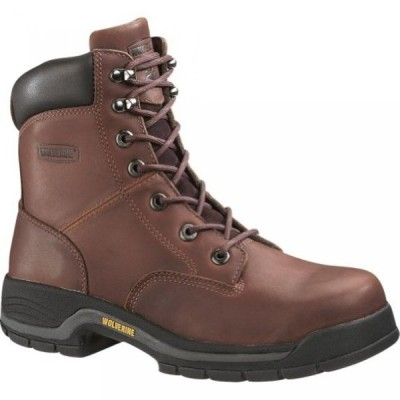 """ウルヴァリン メンズ ブーツ Wolverine Men's 8"""" Harrison Steel Toe Boots"""