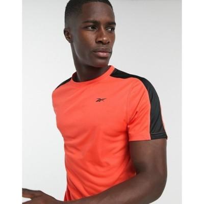 リーボック メンズ シャツ トップス Reebok WOR short sleeve tech t-shirt in vivid orange