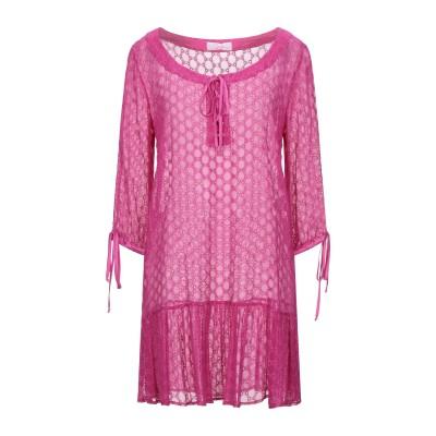 CLIPS MORE ミニワンピース&ドレス フューシャ 42 シルク 55% / コットン 45% ミニワンピース&ドレス