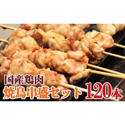 C3-2106/ナント!串盛120本セット 国産鶏肉
