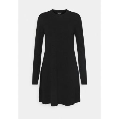 ピーシーズ ワンピース レディース トップス PCGILAYA ONECK DRESS - Jumper dress - black