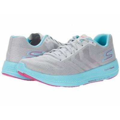 SKECHERS スケッチャーズ レディース 女性用 シューズ 靴 スニーカー 運動靴 Go Run Razor 3+ Grey/Aqua【送料無料】