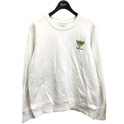 CASABLANCA スウェット ホワイト サイズ:M (銀座店) 210331