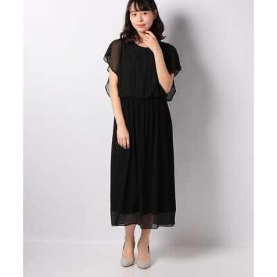 【インタープラネット ウィング】シフォンプリーツドレス