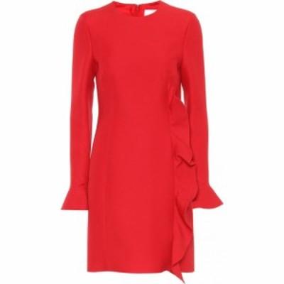 ヴァレンティノ Valentino レディース ワンピース ワンピース・ドレス Virgin wool and silk dress Red