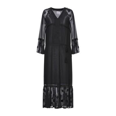 LOUXURY 7分丈ワンピース・ドレス ブラック M ポリエステル 100% 7分丈ワンピース・ドレス