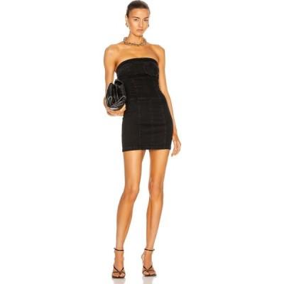 ゼイネプアルケイ Zeynep Arcay レディース ワンピース デニム ミニ丈 ワンピース・ドレス Strapless Mini Denim Dress Black