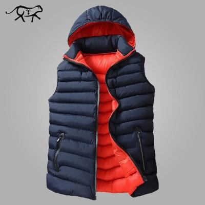 COL CATLEN メンズ 冬 ノースリーブ ジャケット ダウン ベスト フード コート 綿