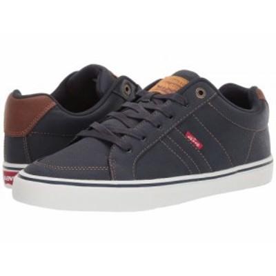 Levis(R) Shoes リーバイス メンズ 男性用 シューズ 靴 スニーカー 運動靴 Turner Tumbled Wax Navy/Tan【送料無料】