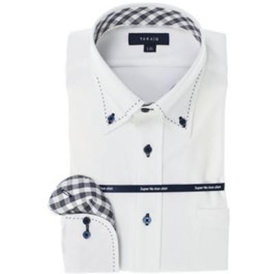ノーアイロン高機能 レギュラーフィットボタンダウン長袖ニットビジネスドレスシャツ/ワイシャツ