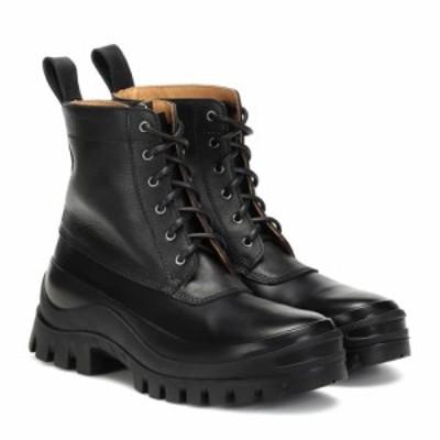 ジル サンダー Jil Sander レディース ブーツ ショートブーツ シューズ・靴 Leather ankle boots Nero