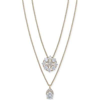 """エリオット ダノリ Eliot Danori ユニセックス ネックレス Cubic Zirconia Convertible Layered Pendant Necklace, 16"""" + 1"""" extender's Gold"""